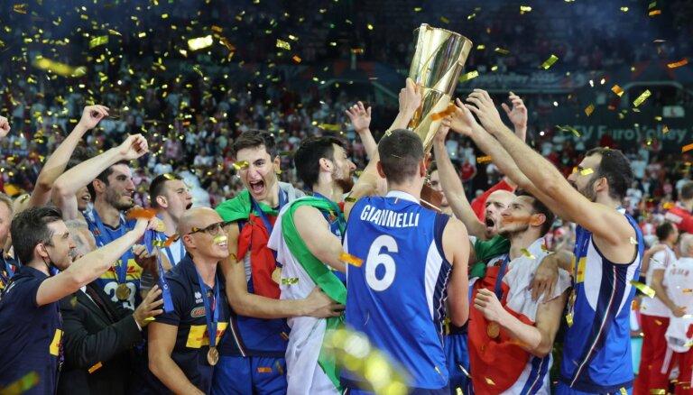 Itālijas volejbolisti atgriežas Eiropas čempionu tronī