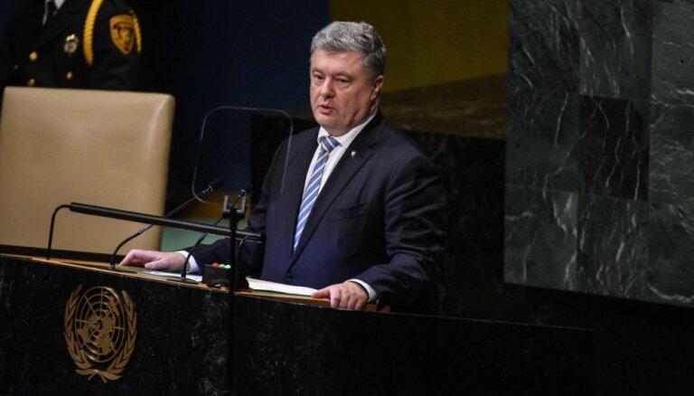 Ukrainā kopš Krievijas agresijas sākuma krituši 2949 ukraiņu karavīri, ziņoja Porošenko