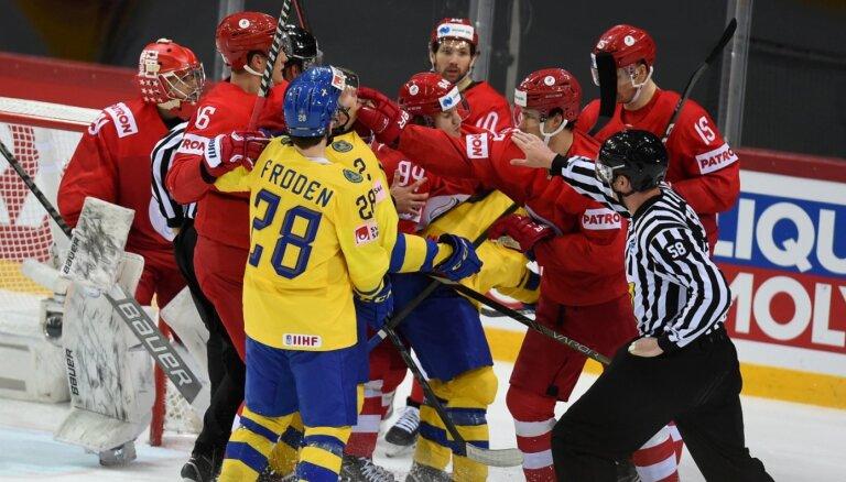 Zviedrijas hokejisti pirmo reizi neiekļūst pasaules čempionāta ceturtdaļfinālā