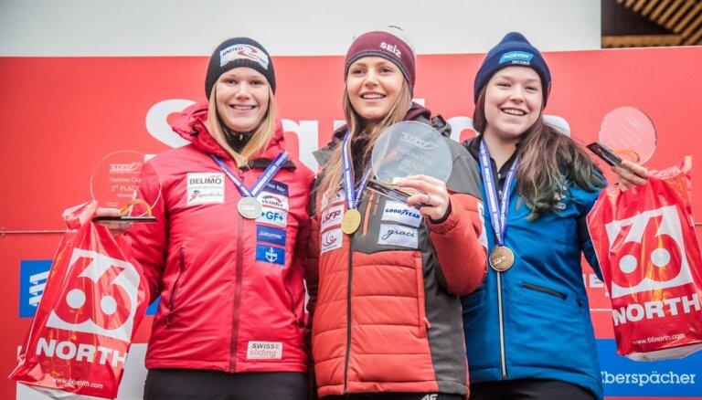 Latvijas kamaniņu sportisti Nāciju kausā izcīna visas zelta medaļas