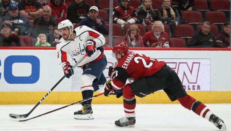 Ovečkins labojis NHL rekordu metienos pa vārtiem