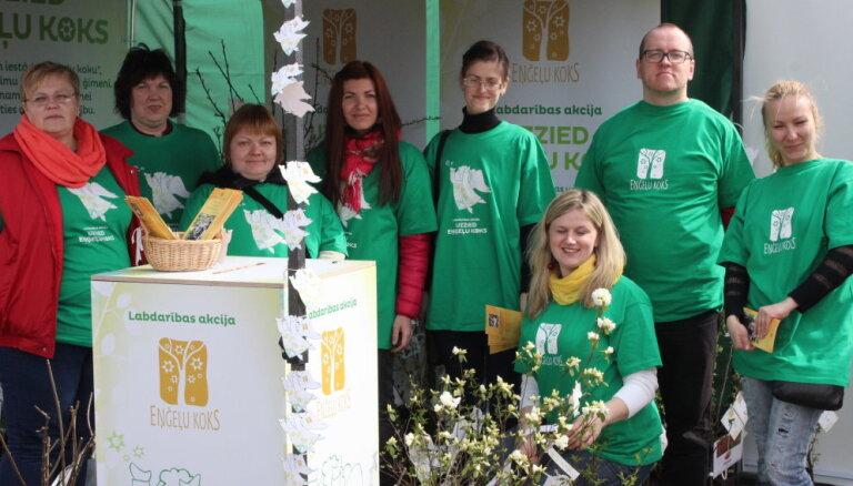 Labdarības akcijā 'Uzzied eņģeļu koks' vāks ziedojumus neizārstējami slimu bērnu aprūpei mājās