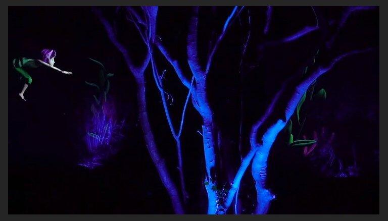 Nonākt pasaku pasaulē: maģisks mežs Japānā, kur vērot iespaidīgas video projekcijas
