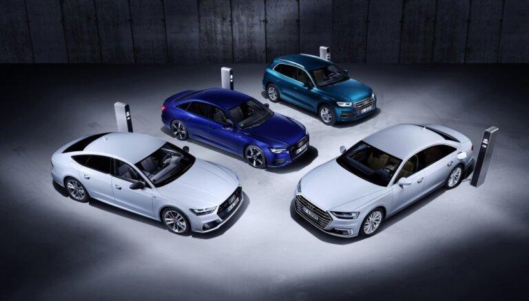 Četrus 'Audi' modeļus papildina ar uzlādējamā hibrīda versiju