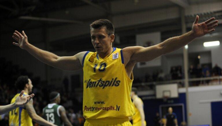 'Ventspils' basketbolisti sagādā 'VEF Rīga' pirmo zaudējumu LBL turnīrā