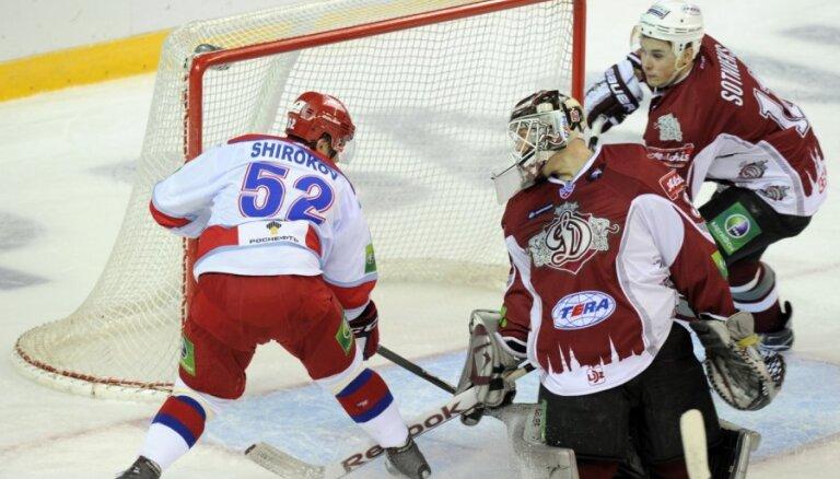 Rīgas 'Dinamo' svarīgā mačā piekāpjas Maskavas CSKA