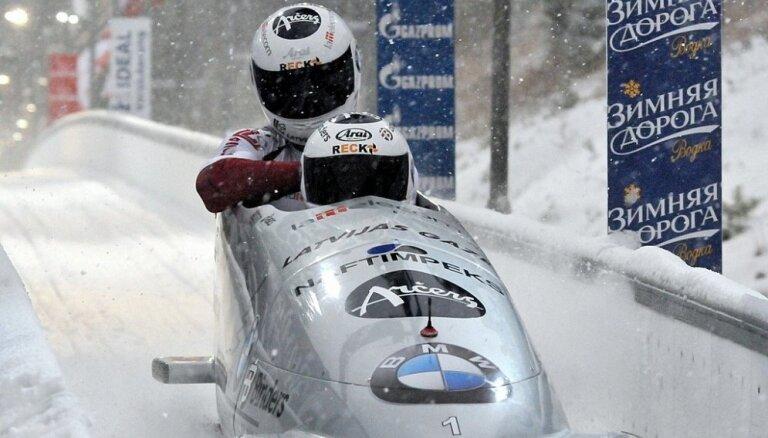 Латвийский экипаж уже третий этап Кубка мира уступает только немцам