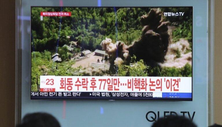 Ziemeļkoreja gatavojoties starptautisko inspektoru vizītei kodolizmēģinājumu poligonā