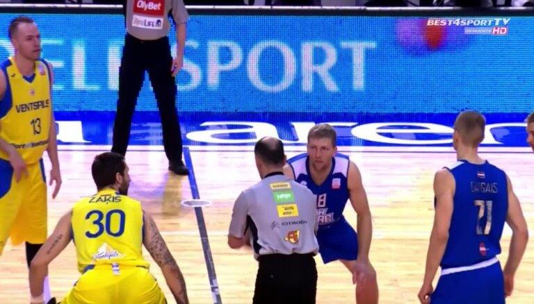 'OlyBet' basketbola līgas pusfināls: 'Ventspils' - 'Ogre'. Spēles labākie momenti
