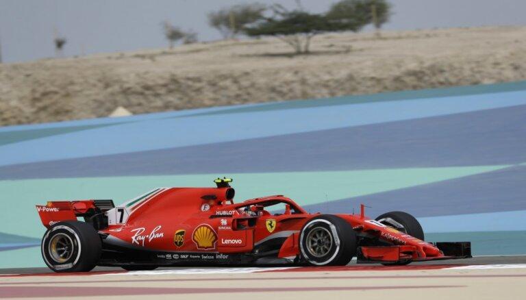 Raikonens ātrākais pirmajos divos F-1 Bahreinas etapa treniņbraucienos