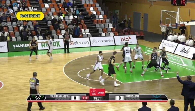 'OlyBet' basketbola līga: 'Valmiera glass/ViA' - 'Parnu Sadam'. Pilns ieraksts