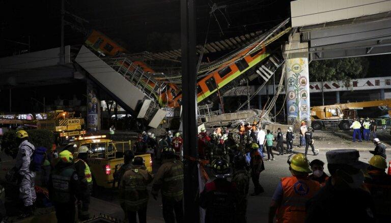 Возросло число жертв обрушения метромоста в Мехико