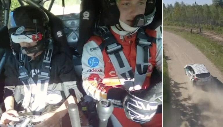 Video: Drona pilots kopā ar Nitišu veic rallija ātrumposmu