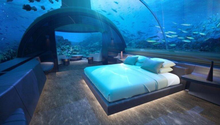 Kā izskatīsies pirmā zemūdens luksusa viesnīca, kur nakšņošana maksās 40 tūkstošus eiro