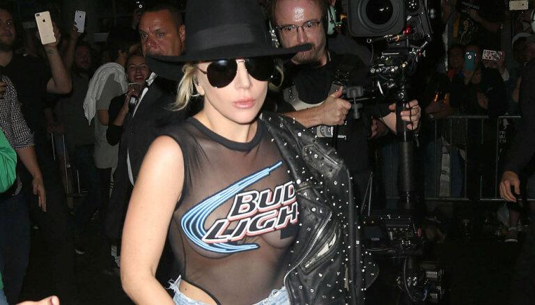 Foto: Lady Gaga provocē ar aplīmētiem pupiņiem