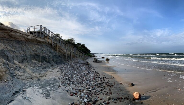 ФОТО: Отличное место для прогулок – обрыв Сталдзене под Вентспилсом