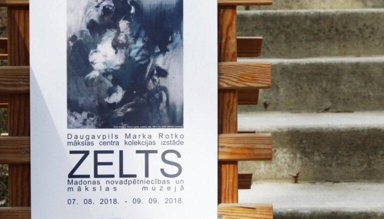 Madonā atklāta Rotko centra kolekcijas izstāde 'Zelts'