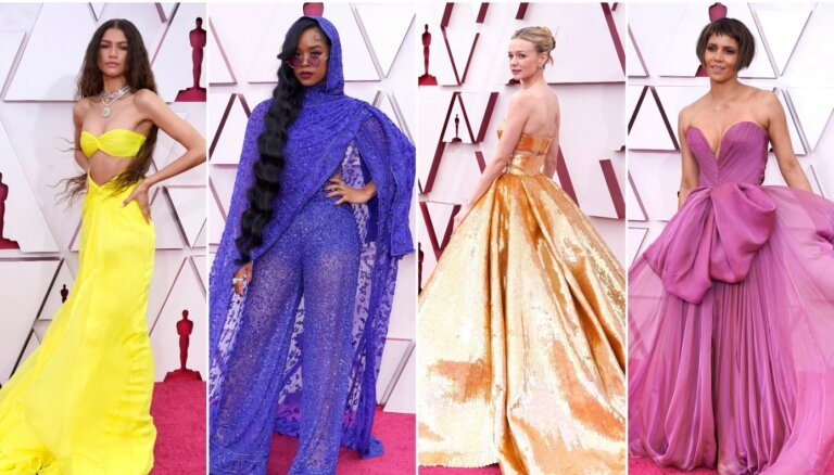 """ФОТО. Десять самых ярких нарядов на церемонии вручения """"Оскара"""" в 2021 году"""