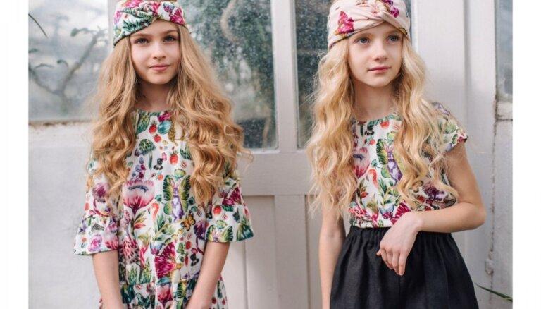 Foto: Zīmola 'Hebe' un gleznotājas Kristīnes Luīzes Avotiņas kopīgi radītā apģērbu kolekcija