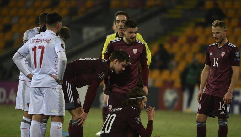 Не удержали Йоветича: сборная Латвии по футболу проиграла Черногории в отборочном турнире ЧМ-2022