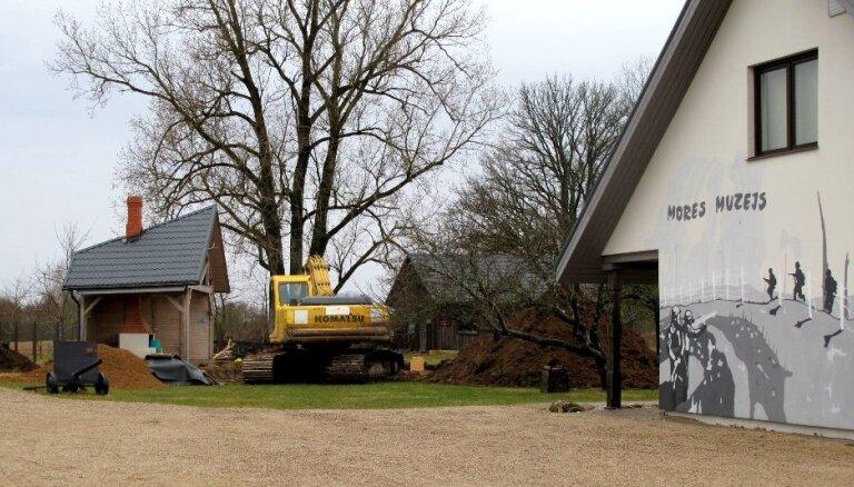 Piešķir līdzfinansējumu Mores kauju muzeja teritorijas labiekārtošanai