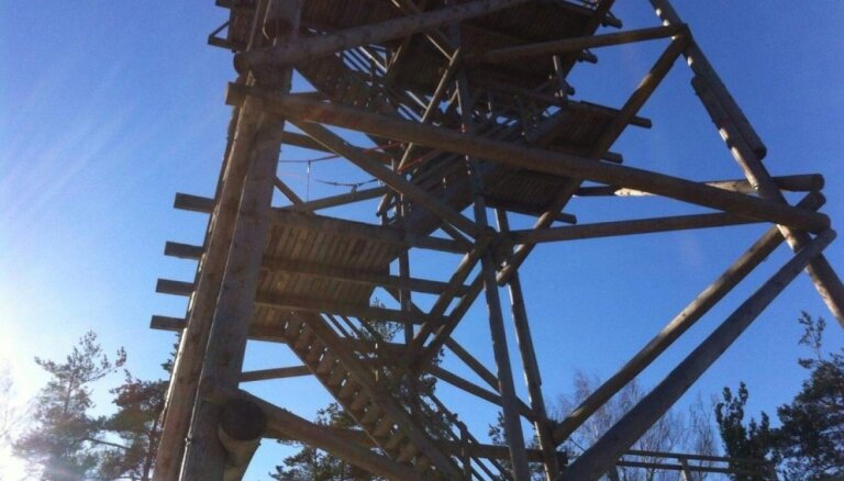 Aprīļa vidū plānots pabeigt remontdarbus Lielā Liepukalna skatu tornī