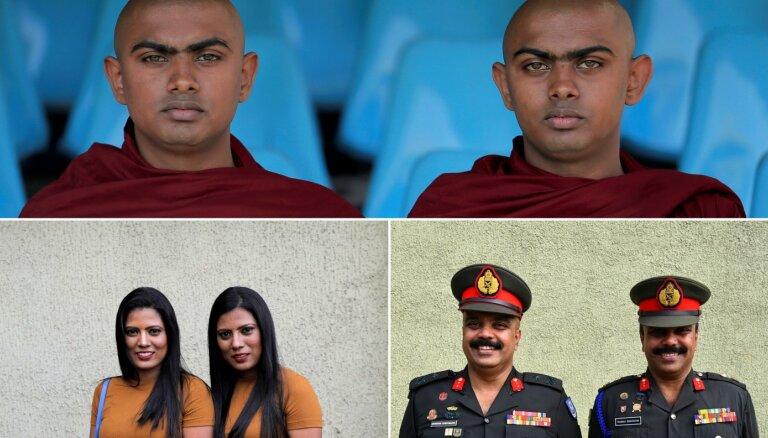Foto: Pārāk liels dalībnieku skaits Šrilankā traucē sarīkot lielāko dvīņu tikšanos pasaulē