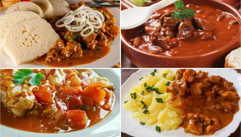 Ēdnīcu klasika – gulašs: knifiņi labākai garšai un 14 receptes vakariņām