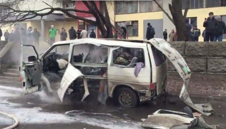 ВИДЕО: В Харькове взорвался автомобиль комбата местной милиции