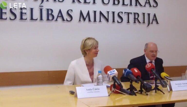 Veselības ministre informē par aktualitātēm veselības nozarē