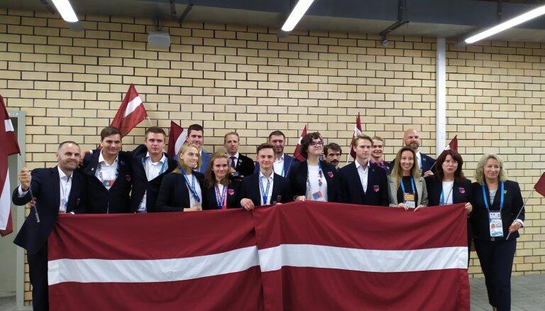 Ar grandiozu šovu noslēdzas profesionāļu olimpiāde; Latvijai trīs izcilības medaļas