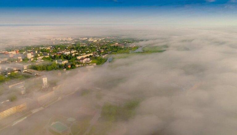 Video: Jelgavu klāj sirreāls miglas šķidrauts