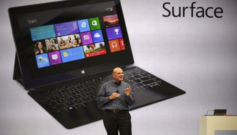 'Microsoft' prezentējis planšetdatoru 'Surface'