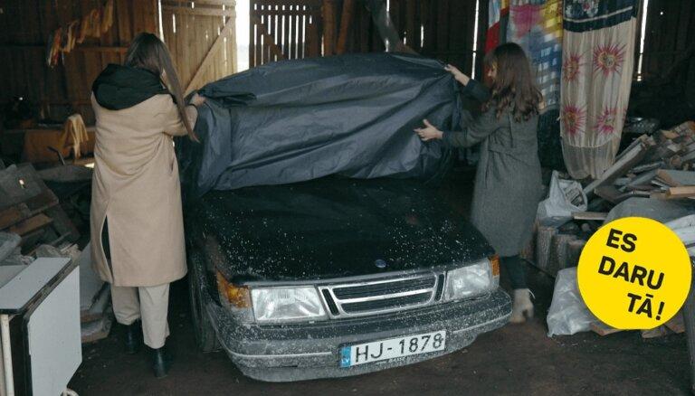 Kalpo ilgi: Laimas Kacenas uzticamais 25 gadus vecais automobilis