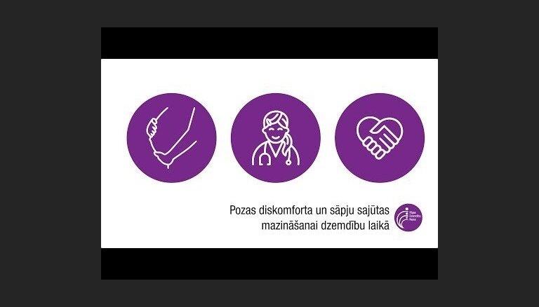 Video: Vecmātes iepazīstina ar pozām diskomforta un sāpju mazināšanai dzemdību laikā