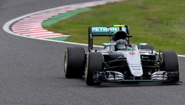 Rosbergs uzvar F-1 Japānas 'Grand Prix' kvalifikācijas sacensībās