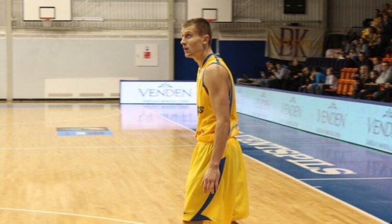 'Ventspils' basketbolists Laksa lauzis kāju; atgriezīsies ap gadu miju
