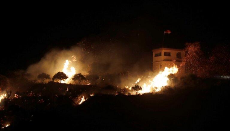 Izraēla apšaudījusi militārus objektus Sīrijas dienvidos