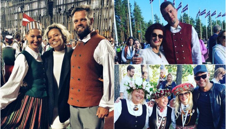 Foto: Kā slaveni latvieši Dziesmu un deju svētkus godināja