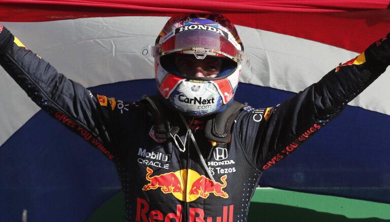 Verstapens uzvar savā mājas 'Grand Prix' un atgūst kopvērtējuma līderpozīciju