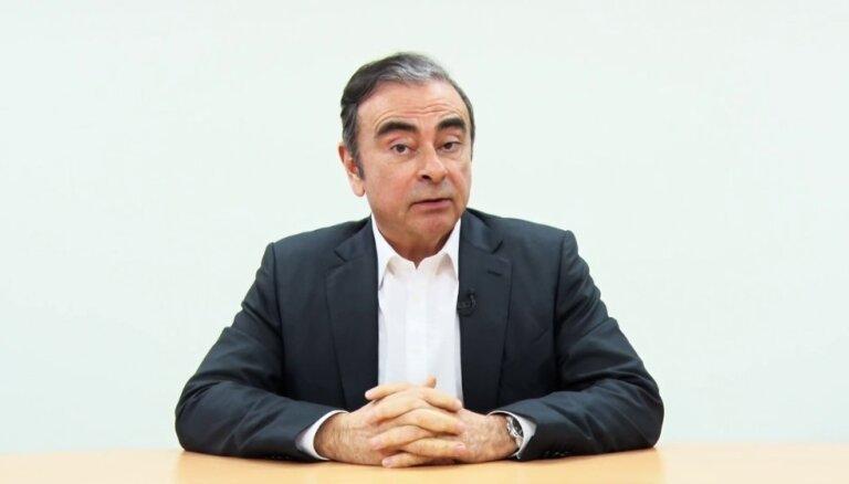 Gosns publiskotā video pauž apsūdzības 'Nissan' vadītājiem sazvērestībā