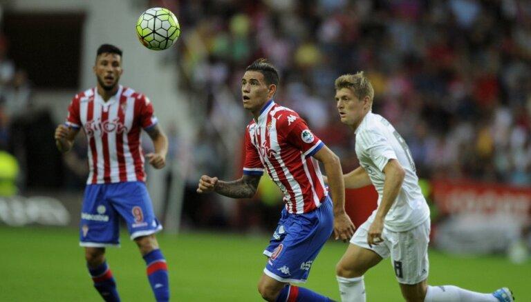 """ВИДЕО: """"Атлетико"""" и """"Реал"""" теряют очки, герой тура — автор хет-трика Санабрия"""