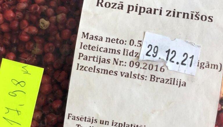 PVD no tirdzniecības izņem vairāk nekā 1600 kilogramu pārtikas ar beigušos vai nenosakāmu derīguma termiņu