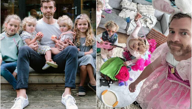 Tēvs iemūžina savus lielākos pārbaudījumus, audzinot četras meitas
