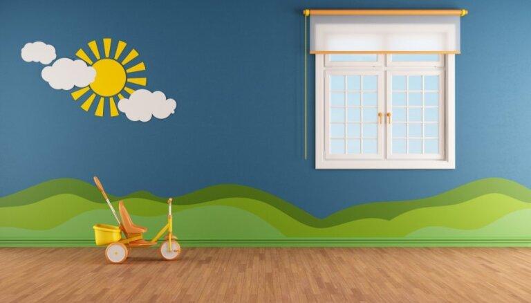 Bērnu sapņu īstenošana uz istabas sienām