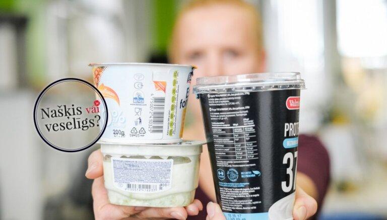 'Našķis vai veselīgs produkts': kopā ar uztura speciālisti testējam beztauku jogurtus