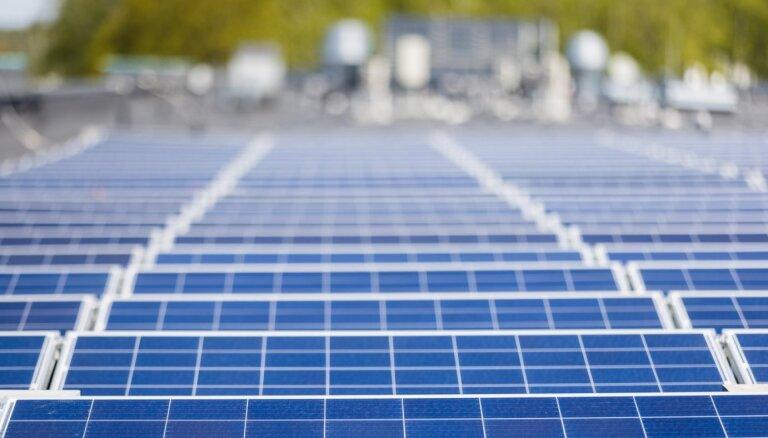 'Maxima' uz veikala jumta Rīgā uzstādījusi saules elektrostaciju