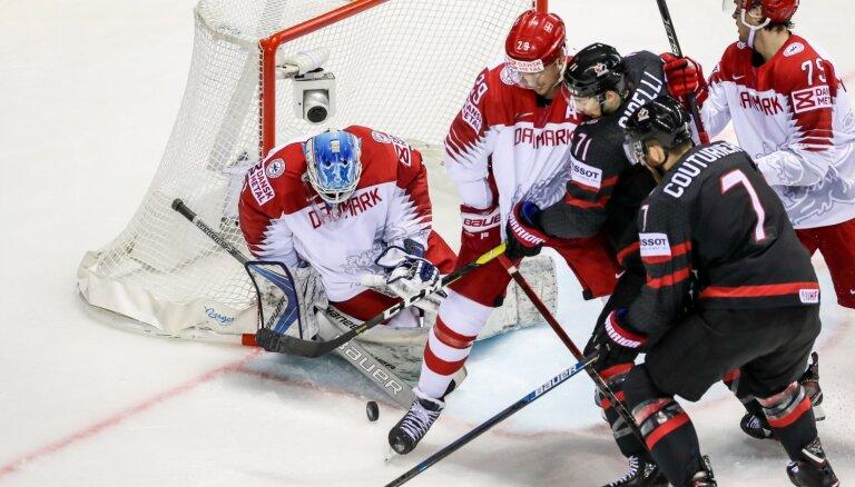 Kanādas hokejisti bez problēmām tiek galā ar Dāniju