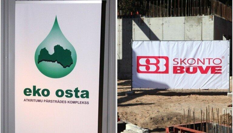 Uzsākts kriminālprocess pret 'Eko Osta' saistībā ar maksātnespējas pieteikumu 'Skonto Būvei'