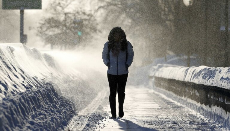 C воскресенья в Латвии вновь начнутся снегопады